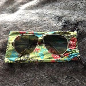 Maui Jim womens polarized aviator sunglasses
